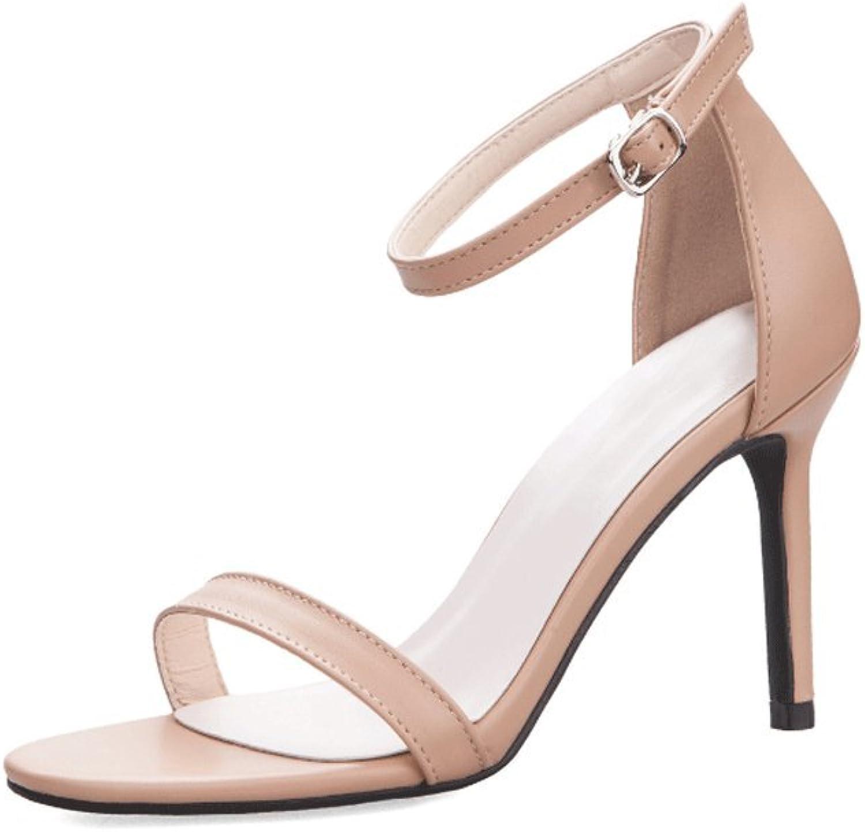 Women's High Heels Summer Open Toe Hollow Foot Straps Sandals (color   1 , Size   EU35 UK3 CN34)
