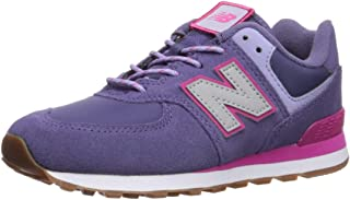 Girls 574v1 Lace-Up Sneaker, Violet Fluorite, 12 E W US Toddler (1-4 Years)