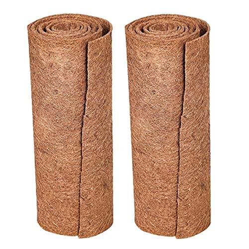 2pcs fibre de coco Tapis naturel haut de gamme Reptile Tapis pour animaux Lézard Serpent Chamelon Tortue Literie de lapin tapis de tapis (Brown) pour le jardin