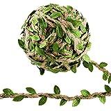 pianta artificiale edera rampicante ghirlanda, 2 pezzi pianta artificiale fiori esterne per festa di matrimonio e la decorazione della parete di giardino