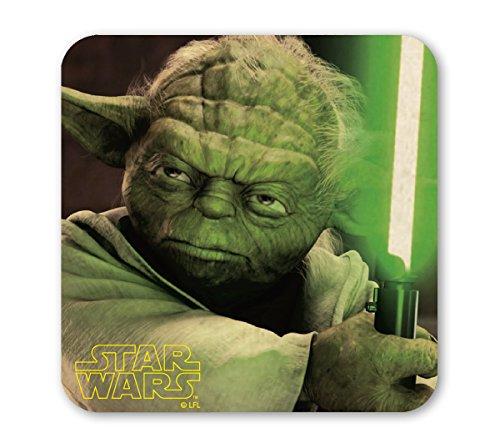 Logoshirt - Guerre Stellari Sottobicchiere Sughero - Star Wars Coaster - Yoda - colorato - Design Originale Concesso su Licenza