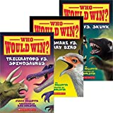 Who Would Win? 3 Book Set RattleSnake vs. Secretary Bird, Triceratops vs. Spinosaurus, Jaguar vs. Skunk