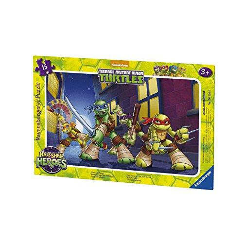Ravensburger Puzzle - 06126 - Tortugas Ninja Listo para la acción - 15 Piezas