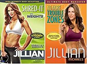 Jillian Michaels Workout videos Collection Set - Shred-It With Weights & No More Trouble Zones - Double Feat: DVD