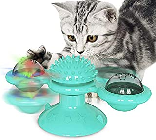 Alextreme Cat Turning Windmill Turntable Tickle Cat Toy Scratch Hair Brush Pet Accessories