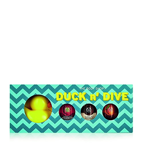The Body Shop Duck 'n' Dive Body Wash Gift Set, 4pc Bath and Body Gift Set of Rubber Duck and Assorted Paraben-Free Shower Gels