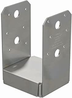 Simpson Strong Tie ABU44SS Stainless Steel Adjustable Post Base, 4-inch, 4