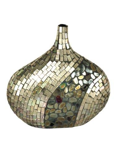 Dale Tiffany Antik Deko Vase, Glas, Mehrfarbig, 12-Inch by 12-Inch