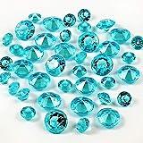Manshui 1000 Piezas 10mm Cielo Azul de Cristal acrílico Diamantes Mesa de Confeti, Floreros Rellenos de Perlas Decoración (Cielo Azul, 10mm)