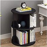 Organizador almacenamiento estante estante de 360 grados de estante giratorio de 360 grados almacenaje de espacio para el libro de libros de oficina, libro de libros 27.5x19.6 en organizador para