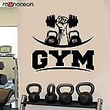 wukongsun Wandtattoo Fitness Aufkleber Schlafzimmer Gym Gewichtheben Wasserkocher Glocke Sport Gym...