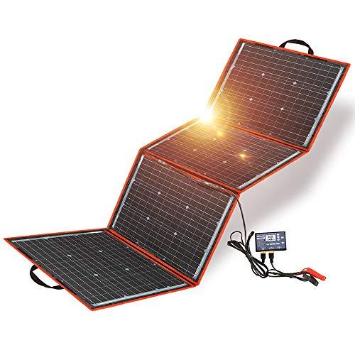 DOKIO Kit Panel Solar Plegable 150w 12v monocristalino portátil, plegable, imermeable,ideal para...