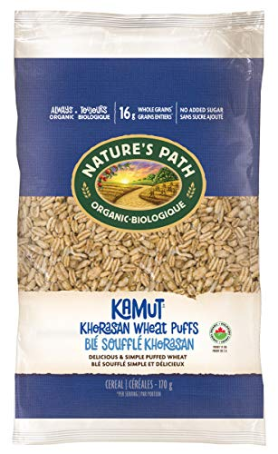 Nature's Path KAMUT Khorasan Wheat Puffs Cereal, Healthy, Organic, Gluten-Free, Low-Sugar, 6...