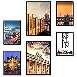 Poster24 Premium Poster Set Berlin | 2X DIN A3 und 4X DIN