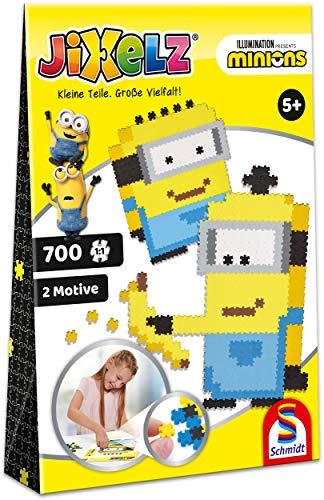 Schmidt Spiele 46113 Jixelz, Minions, 700 Teile, 2 Motive, Kinder-Bastelsets, Kinderpuzzle