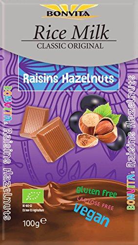 Bonvita Reismilch-Schokolade Traube-Nuss, 100g