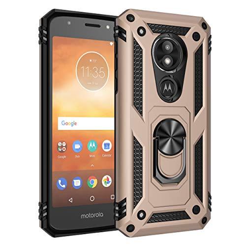 BestST Motorola Moto E5 Play Premium Hart PC 360 Grad Hülle Moto E5 Play Hülle + Panzerglas,360°drehbarer Smartphone Fingerhalter Hülle Weiche Silikon TPU + Hart PC Hülle für Motorola Moto E5 Play