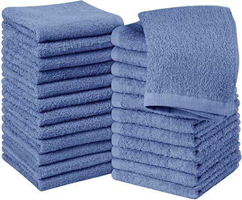 Utopia Towels - 24er Set Seiftücher, 30x30 cm, Washclappen aus 100% Baumwolle, 600g/qm, Elektrisch Blau