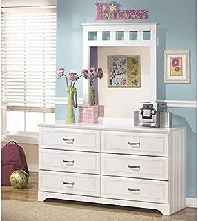 Ashley Furniture Lulu 2 Piece Wood Dresser Set in White
