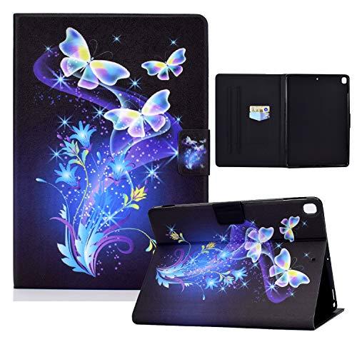 zl one Compatible con/reemplazo para Tablet PC iPad 10.2 8.ª generación 2020/7.ª generación 2019, iPad Air 3/iPad Pro 10.5 PU cuero Flip Cover Stand Wallet Case (Butterflies Flowers)