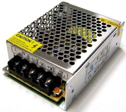 takestop® Alimentatore TRASFORMATORE 12V 10A per Striscia LED TELECAMERE DVR STABILIZZATO Switch Trimmer