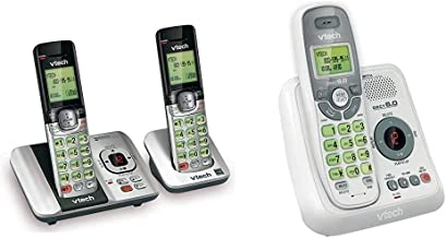 $69 » VTech CS6529-2 DECT 6.0 Phone Answering System & CS6124 DECT 6.0 Cordless Phone with Answering System and Caller ID/Call W...