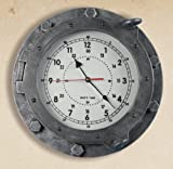 Madera Nautical Reloj de 30x 30cm, diseño de ojo de buey