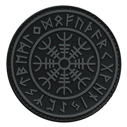 Aegishjalmr Viking Helm of Awe ACU Subdued Norse Heathen Rune Morale PVC Rubber Fastener Patch