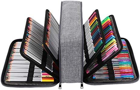 300 Slots Pencil Case Colored Gel Pens Holder Organizer High Capacity Pencil Bag with Multilayer product image