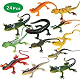 Minelife 24 Pieces Plastic Lizard Toys Artificial Model Reptile Lizard, Fake Lizard Action Figure Educational Toys for Kids & Adults(12 Styles)