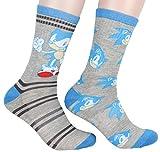 Sega Sonic The Hedgehog Supersonic Speed Novelty Crew Socks Two Pack