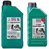 Liqui Moly 1280 Aceite Para Cadenas De Motosierras Bio, 1 L + 1282 Aceite Para Motosierras De 2 Tiempos, 1 L