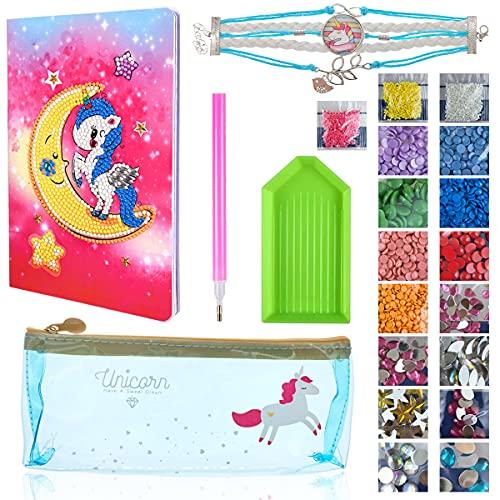 Set de papelería Unicornio,Unicornio Diario Cuaderno Escolar,Set de papelería Unicornio,Diario Para Niñas,Cuadernos de...
