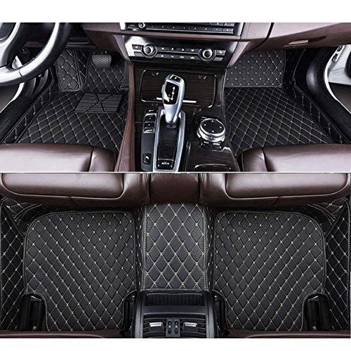 RVTYR For Volvo Todos los Modelos S60 S80 C30 XC60 XC90 S90 S40 V40 V90 V70 V60 XC-Classi, alfombras de Piel de Encargo del Coche Auto del Coche Accesorios (Color : Black Beige)