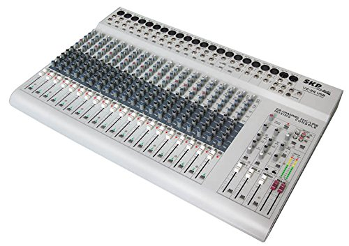 SKP PRO AUDIO VZ-24 USB Mixing Console. 20 Mono Channels - 4 Stereo Inputs Channels with 4 Band EQ