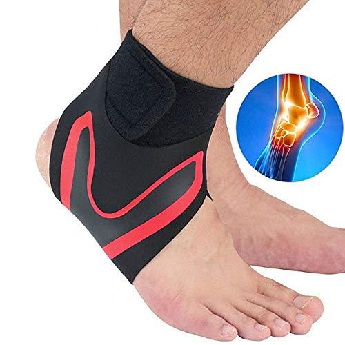 DTTKKUE Soporte para El Tobillo, El Tobillo Estabilizador Brace, Tobillera Ajustable Transpirable Diseño para Caminar, Correr, Esguinces, Artritis, Aquiles Etc.