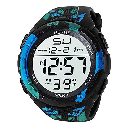 Challeng Kinder Digital Sportuhren Jungen wasserdichte Sportuhr mit Wecker analoge LED Armbanduhr für Herren Sport Lauf