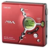 Aiwa AMNX9-R Personal Mini Disc Net Md Recorder Red