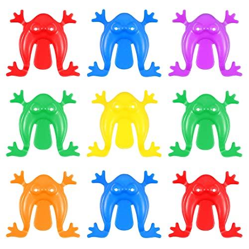 Tomaibaby 24 Unidades de Juego de Rana Pequeña Rana Saltadora de Juguete de Colores Elásticos Animales Insectos Juguetes para Niños Novedosos Juguetes de Rana Saltarina para Niños Pequeños