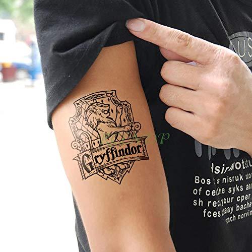Handaxian 3PCS-Wasserdicht Tattoo Todesser Schlangenkopf Schädel Mythos Totem Tattoo Aufkleber Tattoo Frau Blau