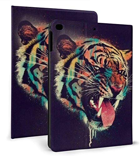 Ferocious Tiger Art Print Case for Ipad Air 1/2 9.7 Inch 2018/2017,Adjustable Stand Auto Wake Or Sleep Smart Case for Ipad 6th Or 5th Gen