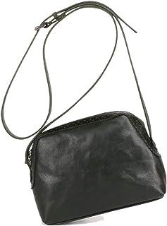 Skbiubiu Women's retro leather shoulder bag casual messenger bag simple shoulder bag (Color : Green, Size : 20 * 6 * 15cm)