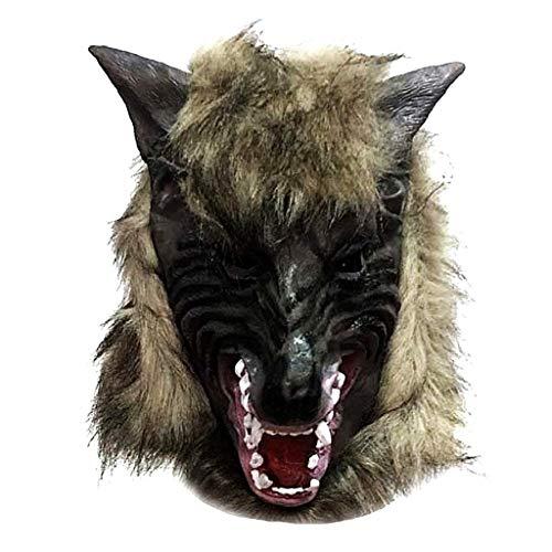 EVRYLON Máscara de Hombre Lobo de Halloween máscara de látex de Carnaval Unisex