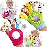 Ogquaton Hochwertige fingerpuppe Finger Spielzeug Handschuhe plüsch niedlichen Tier Baby pädagogisches Spielzeug Stoff handschuh Puppe MAPE langlebig