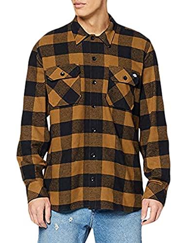 Dickies Streetwear Male Shirt Sacramento - Camiseta / Camisa deportivas para hombre, Brown Duck, XS