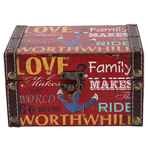 Caja de almacenamiento, exquisita caja de almacenamiento vintage, para documentos Regalo de Navidad Libros bíblicos Regalo de cumpleaños(2208A-10-Loving Family)