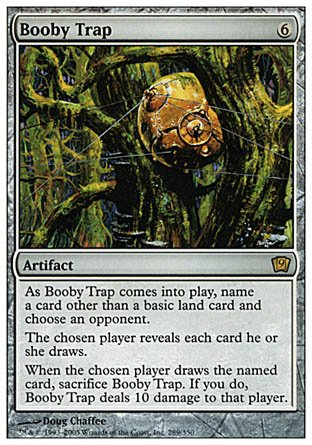 Magic The Gathering - Booby Trap - Ninth Edition - Foil
