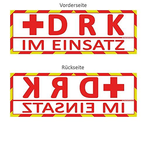 DRK im Einsatz Wendeschild WSB2 für die Sonnenblende in Normal- & Spiegelschrift Deutsches Rotes Kreuz