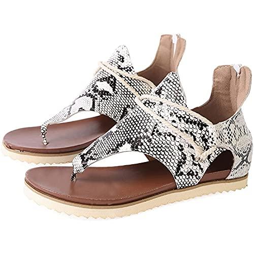 Liumintoy Sandalias con Punta Abierta Mujer, Zapatillas Sandalias para Verano Primavera Verano Hebilla Punta Vacaciones Zapatos Elegante Cómodo,D,35 CN