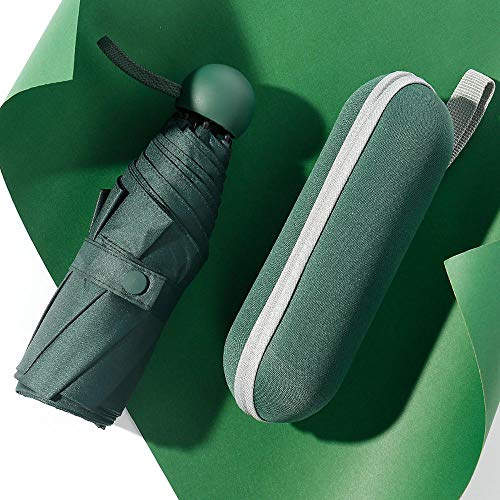 MVBGLK Leap hoge vijf voudige paraplu ultra lichte zon paraplu 50% vrouwelijke vinyl capsule Vintage green (with pull bag)